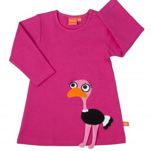 cerise_ostrich_Dress
