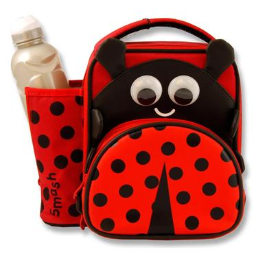 JUNIOR 3D LUNCH BAG & 500ml BOTTLE - LADYBIRD
